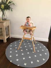 Grey Crosses high Chair
